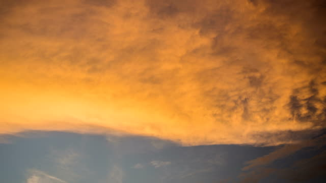 4K Time lapse of Sunset sky. video