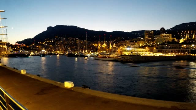 Time Lapse of Super Yachts departing Monaco video