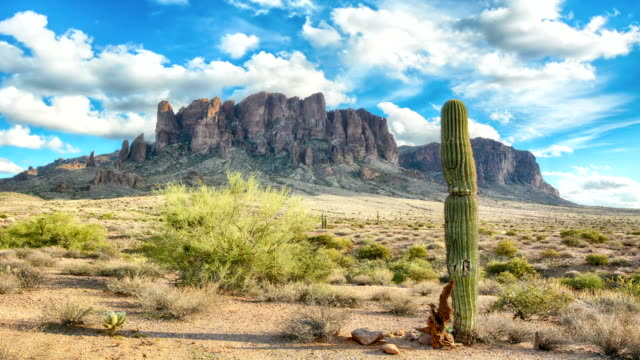 Time lapse of Superstition Mountains in Arizona