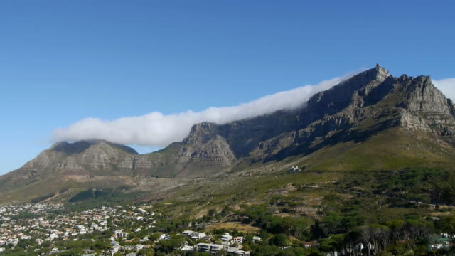 time lapse of table mountain clouds billow over table mountain in cape town table mountain national park stock videos & royalty-free footage
