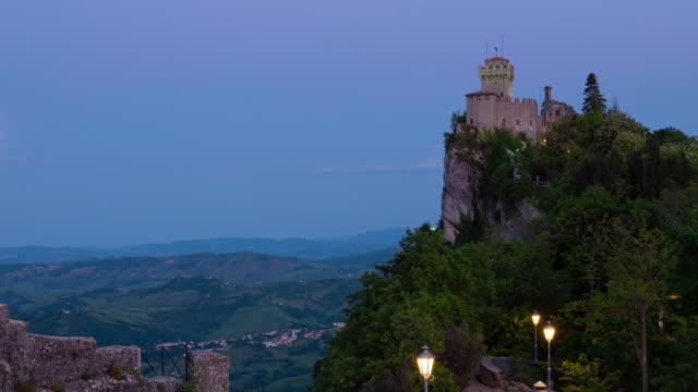 Time lapse of the amazing hilltop fortresses on Monte Titano in San Marino
