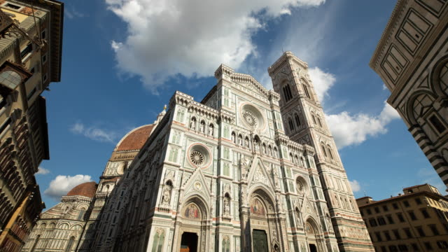 Time Lapse of the beautiful Cathedral of Santa Maria del Fiore in Florence Italy