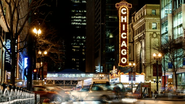 Time Lapse of the Chicago Theater