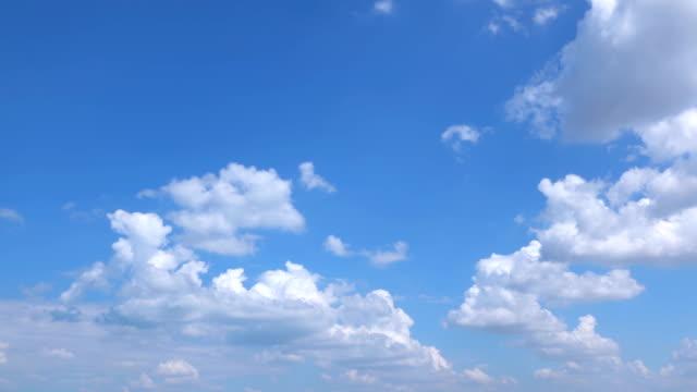 tidsfördröjning av den klara himlen - enkelhet bildbanksvideor och videomaterial från bakom kulisserna