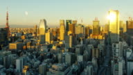 istock Time Lapse of the densely packs buildings of Tokyo Japan at sunrise 1194534422