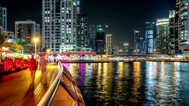 Time Lapse of the Marina area of Dubai video