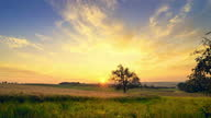 istock Time Lapse of the rising sun over a rural landscape 1304904006