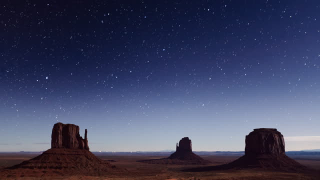 Time Lapse of the stars above Monument Valley