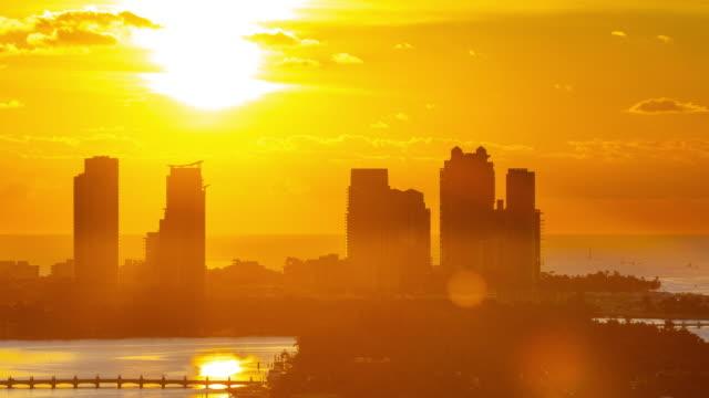 Time Lapse of the sun rising on Miami Beach Florida