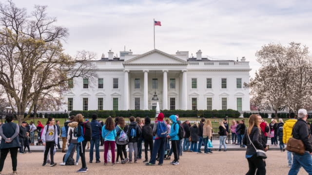 stockvideo's en b-roll-footage met 4k timelapse van het witte huis in washington, d.c., verenigde staten - white house