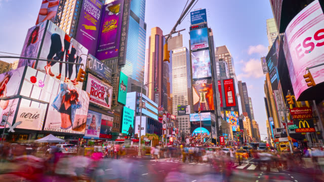 Time Lapse de Times Square, New York - Vidéo