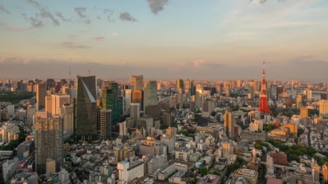日本で東京のスカイラインの時間経過 ビデオ