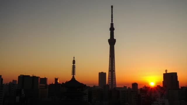 低速度撮影東京の街並み、場所:浅草寺寺院 - 仏塔点の映像素材/bロール