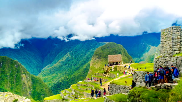 Time lapse of tourist at Machu Picchu video