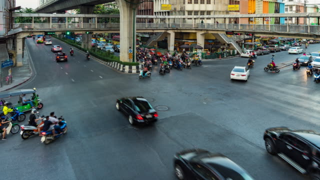 Time Lapse of Traffic and Urban Life in City, Bangkok, Thailand