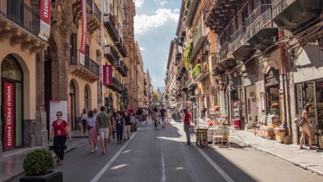 Time Lapse of via Vittorio Emanuele in Palermo