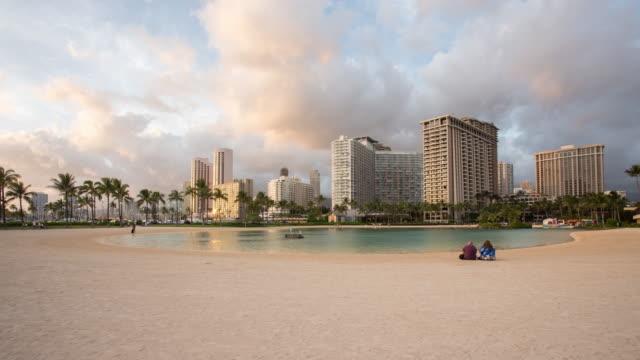 Time lapse of Waikiki beach at sunset