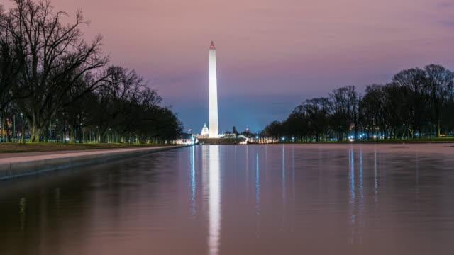 Time Lapse of Washington Monument with Reflecting Pool