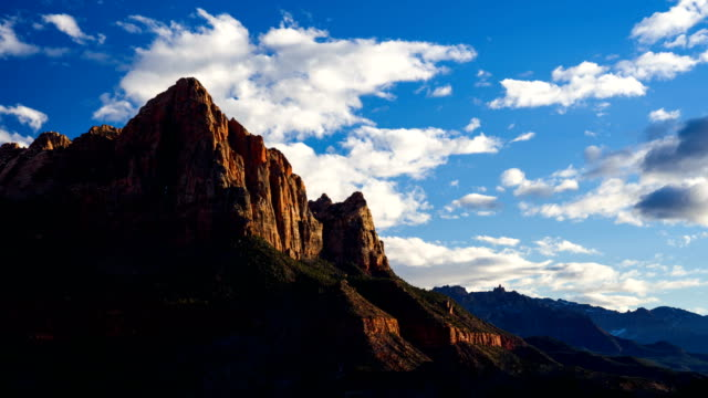 4K Time lapse of Watchman viewpoint, Zion National Park, Utah, USA