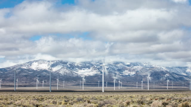 Time Lapse of Wind Power Generation In California