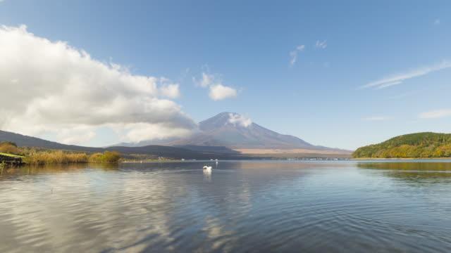 Time lapse of Yamanakako lake in the morning video