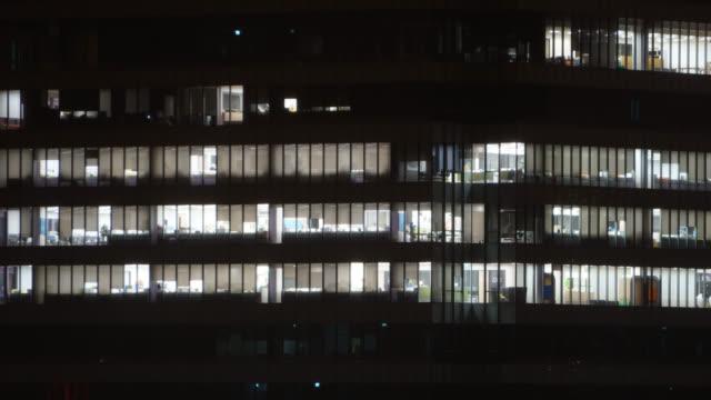 4K Time lapse offcie building light