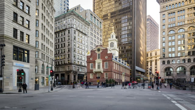 4K UHD Time lapse : Old State House. Boston, USA 4K UHD Time lapse : Old State House. Boston, USA financial building stock videos & royalty-free footage