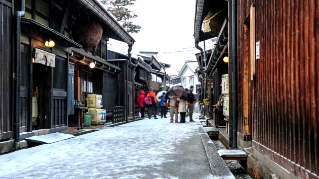 HD Time Lapse : Old town Yamanouchi video