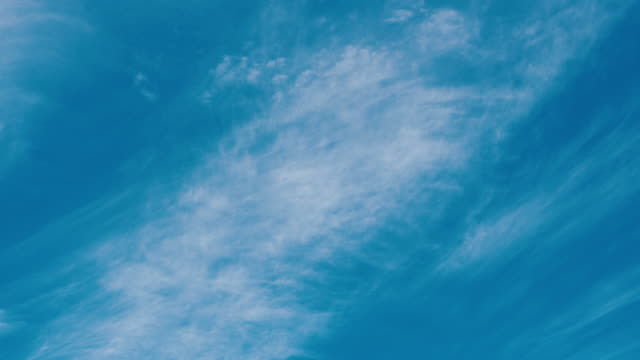 Time lapse or timelapse footage of blue sky with white cloud