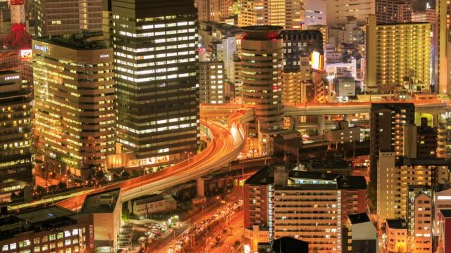 4K Time Lapse : Osaka, Japan at sunset video