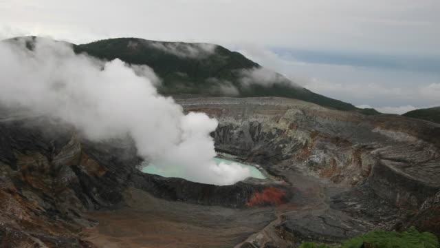 Time lapse over Poas Volcano, Costa Rica video
