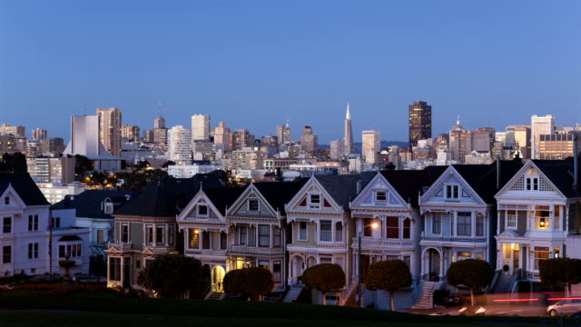 Time lapse Painted Ladies San Francisco sunset video