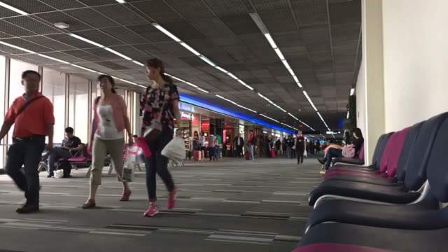 HD Time Lapse: People Traveller Walking in the Airport video