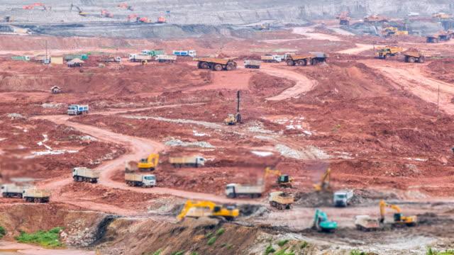 Time lapse pit lignite mine Quarry