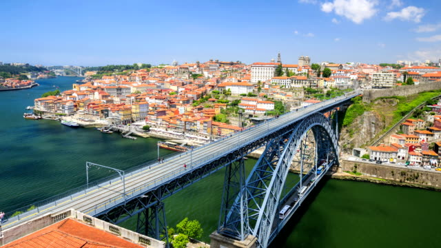 Time lapse : Portugal with the Dom Luiz bridge video
