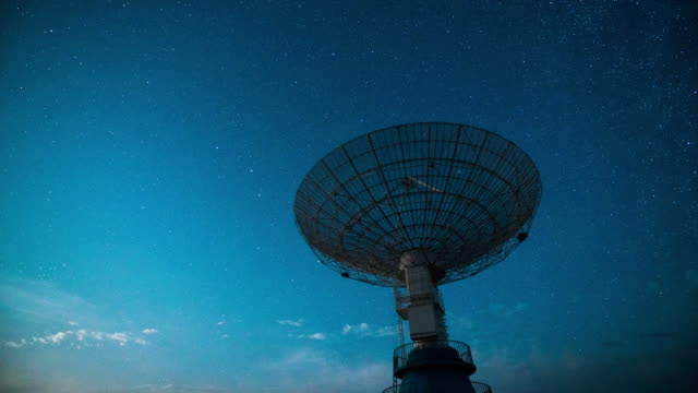 Time Lapse- Radio Telescope Under The Milky Way