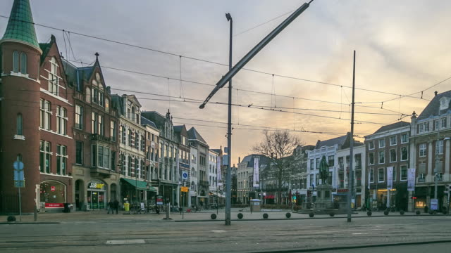 stockvideo's en b-roll-footage met 4 k time-lapse: weg in den haag - den haag