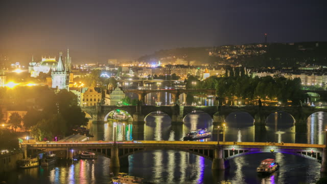 4K Time Lapse :Romantic city of Prague video