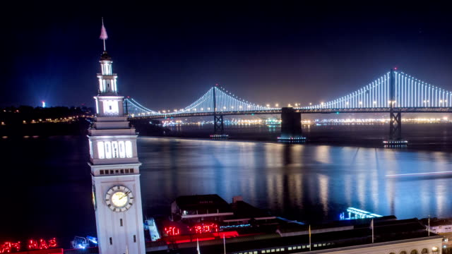 Time Lapse - San Francisco Ferry Building at Night