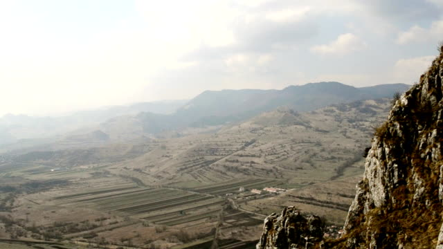 time lapse scenery of valley with clouds video