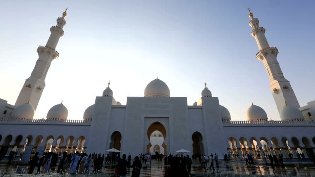 time lapse Sheikh Zayed Grand Mosque Abu Dhabi UAE video