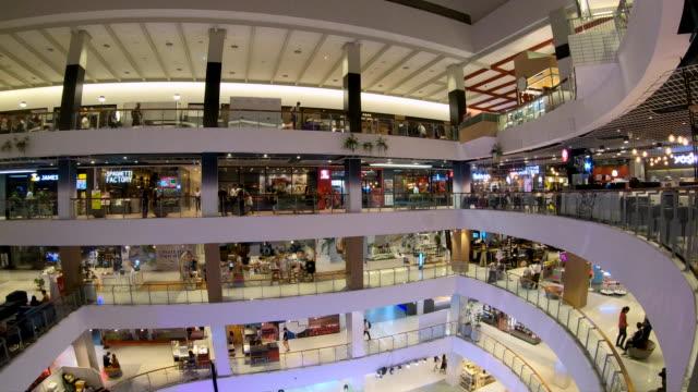 4K Time lapse Shopping Mall ,urban city life