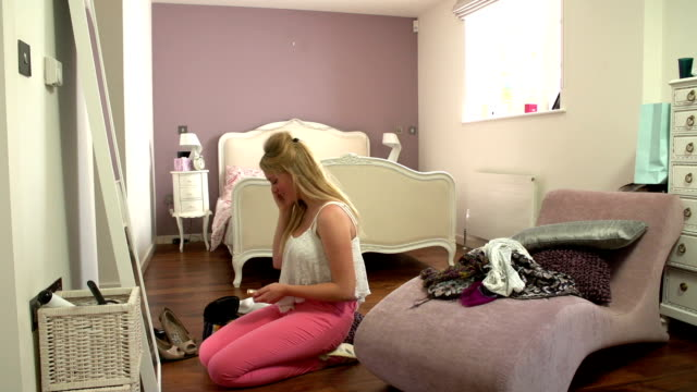 Time Lapse Shot Of Girl Getting Up And Ready video