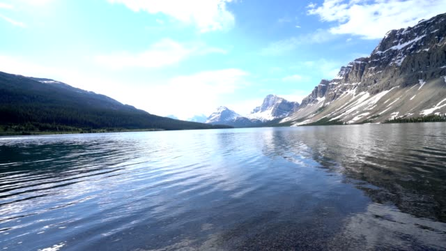 Time lapse shot of stunning mountain lake in the Canadian rockies. video