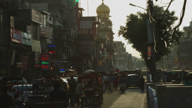 印度德里一市道路上交通的延時拍攝 - 新德里 個影片檔及 b 捲影像