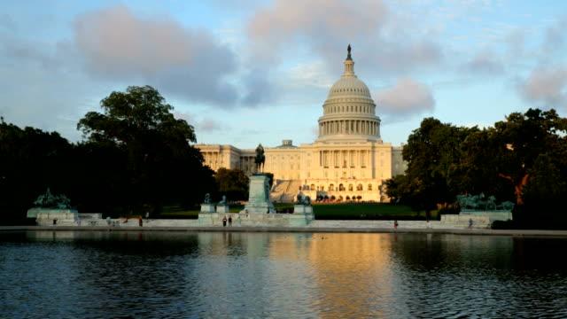 Time lapse shot of United States Capitol building, Washington DC video