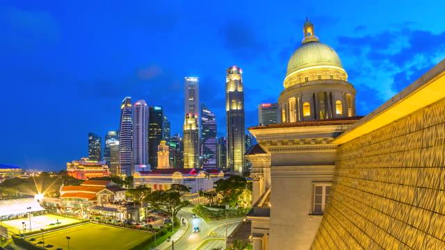 4K Time lapse Singapore Cityscape