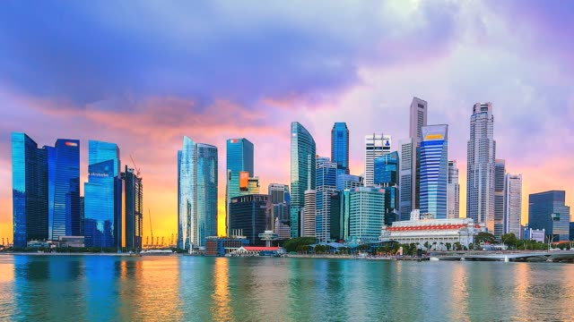 4k time lapse singapore cityscape - singapore architecture stock videos & royalty-free footage