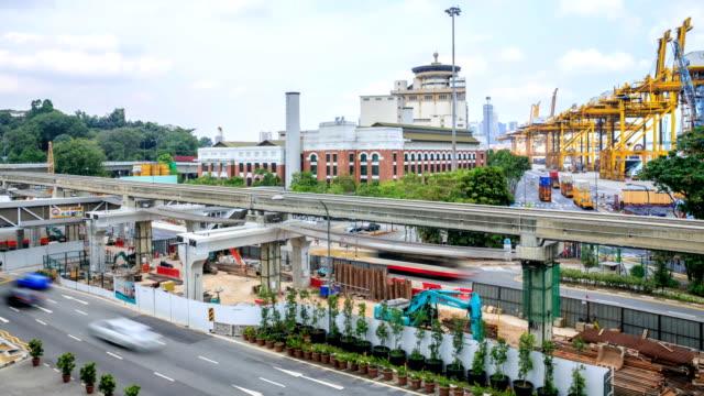 HD Time Lapse : Singapore Construction Site video