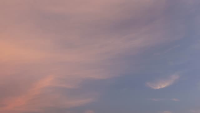 Time lapse sky in evening.